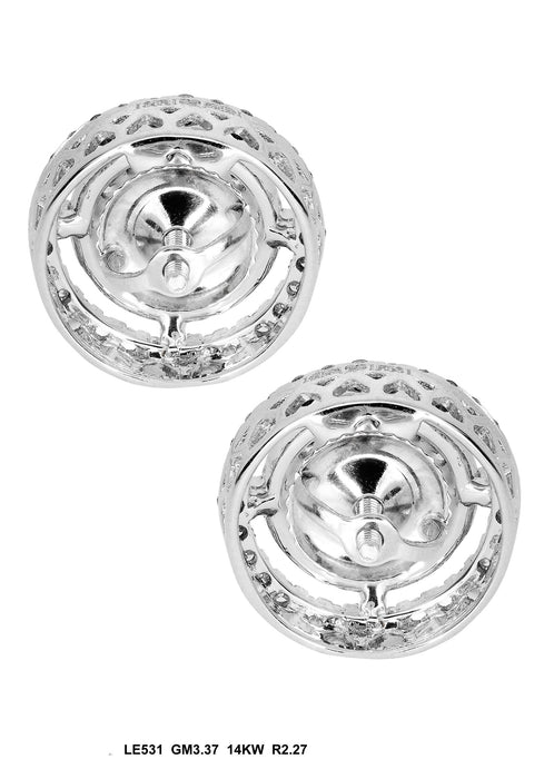 LE531-3 - 14K White Earring - Pawn212