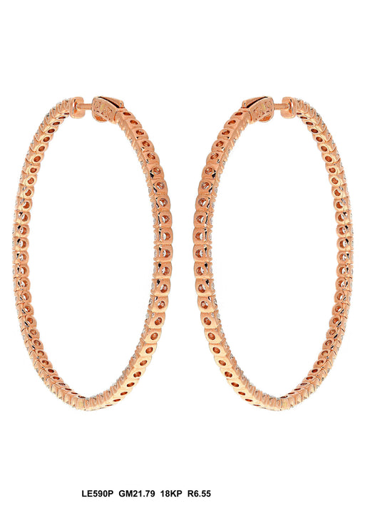 LE590P - 18K Rose Gold Earring