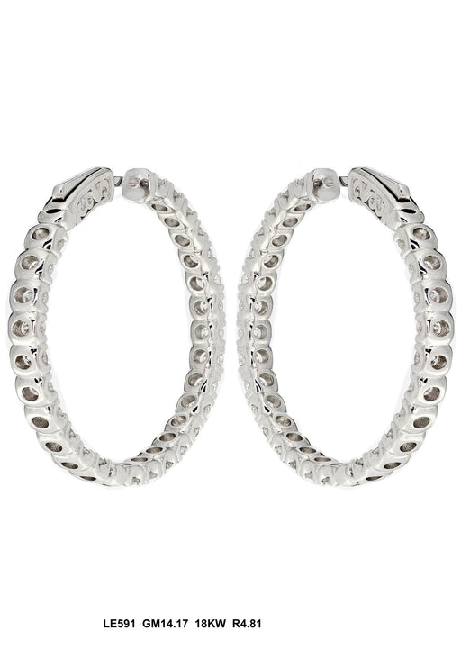 LE591 - 18K White Gold Earring