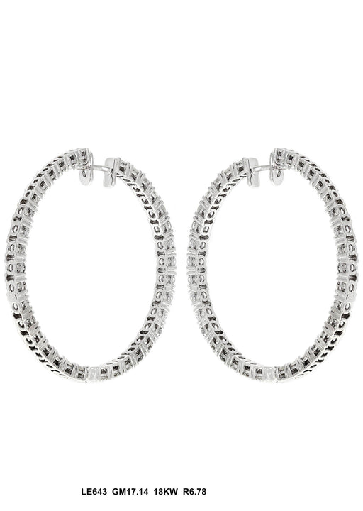 LE643 - 18K White Gold Earring