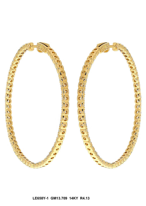 LE658Y-2 - 14K Yellow Earring