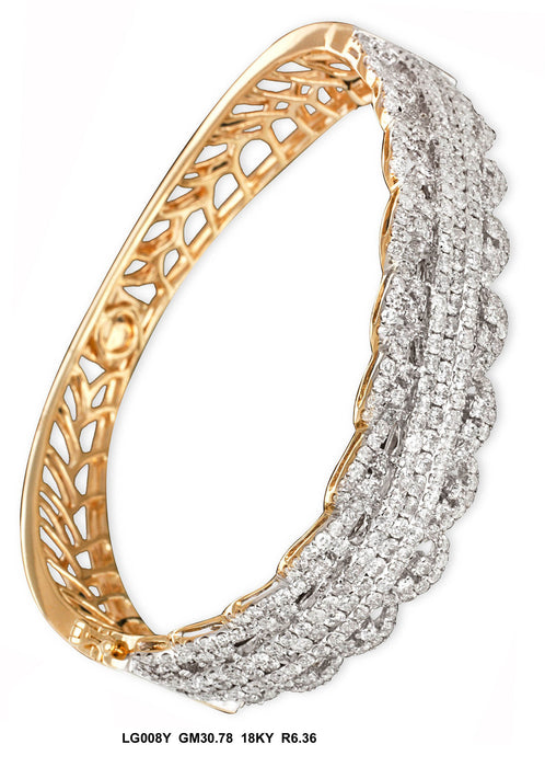 LG008Y - 14K Yellow Bangle