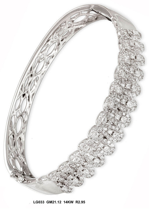 LG033 - 14K White Bangle