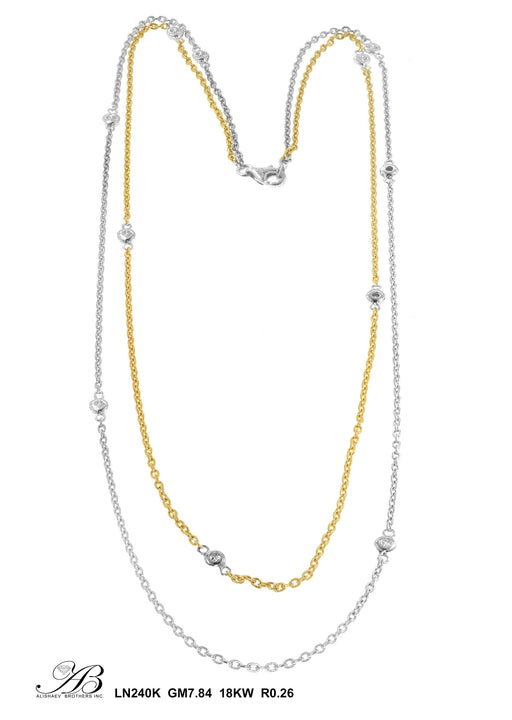 LN240K - 18K White/Yellow Necklace