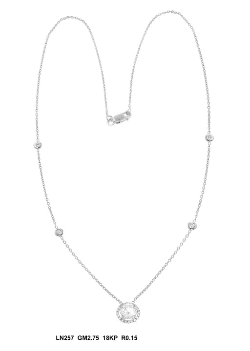 LN257 - 18K White Necklace