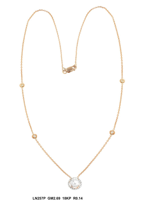 LN257P - 18K Rose Necklace