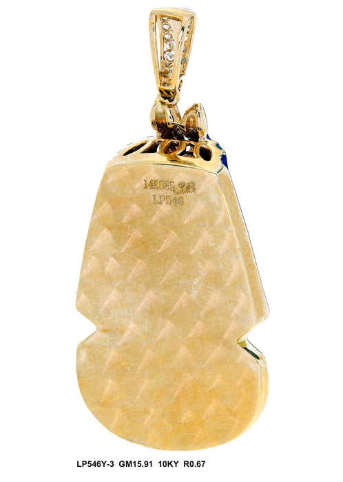 LP546Y-3 - 10K Yellow Pendant
