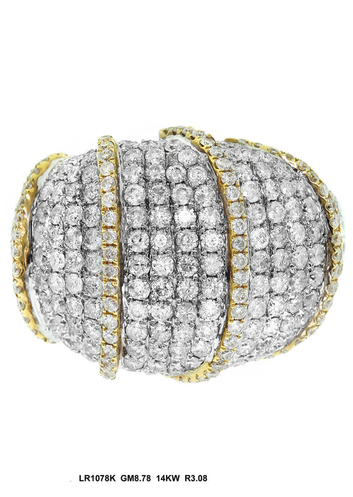 LR1078K - 14K White/Yellow Ring
