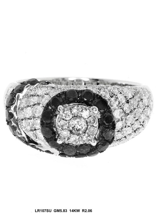 LR107SU - 14K White Gold Cocktail Ring