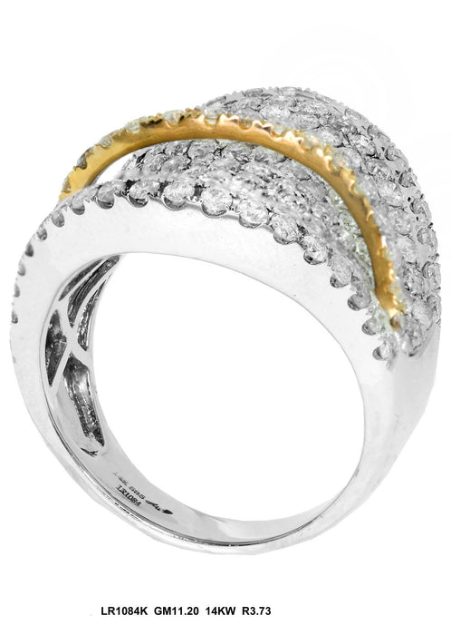 LR1084K - 14K White/Yellow Ring