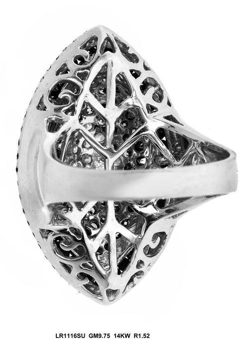 LR1116SU - 14K White Gold Cocktail Ring
