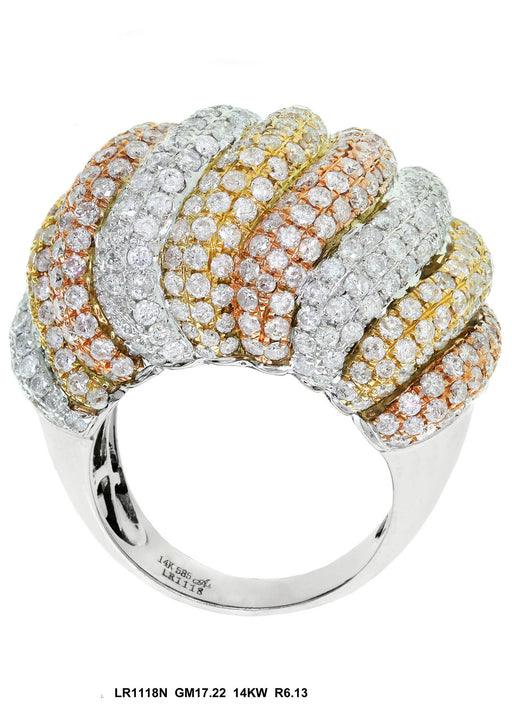 LR1118N - 14K White/Yellow Ring