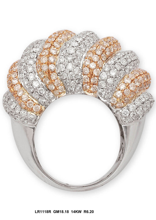 LR1118R - 14K White/Rose Ring
