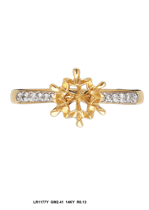 LR1177Y - 14K Yellow Ring