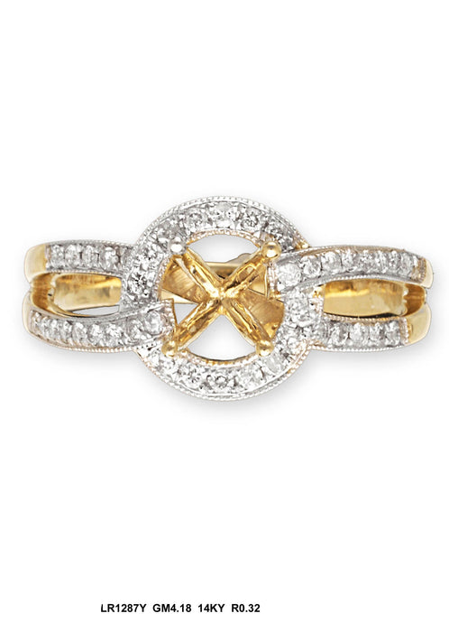 LR1287Y - 14K Yellow Ring