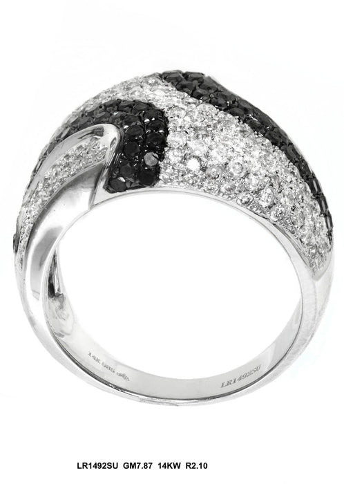 LR1492SU - 14K White Gold Cocktail Ring