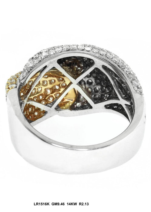 LR1516K - 14K White/Yellow Ring
