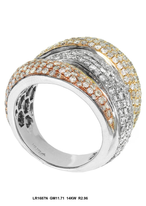 LR1687N-1 - 18K White/Yellow Ring