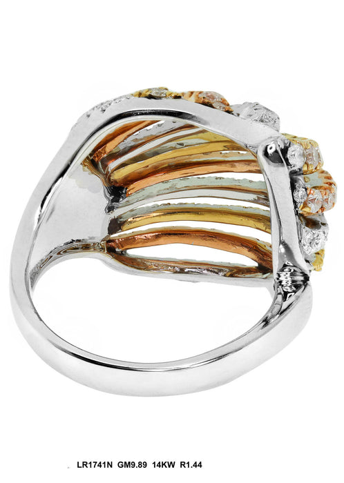 LR1741N - 14K White/Yellow Ring