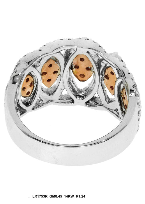 LR1753R - 14K White/Rose Ring