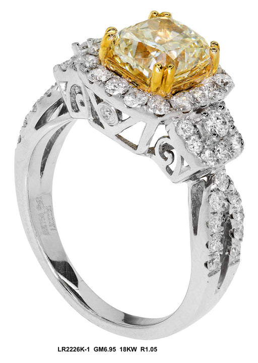 LR2226K-1 - 18K White/Yellow Ring
