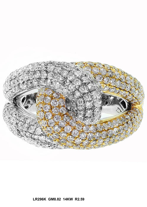 LR296K - 14K White/Yellow Ring