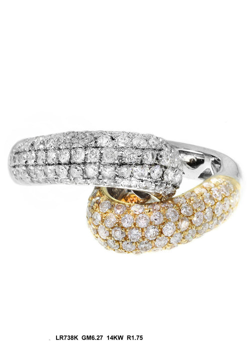 LR738K - 14K White/Yellow Ring