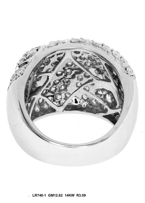 LR740 - 14K White Flower Ring