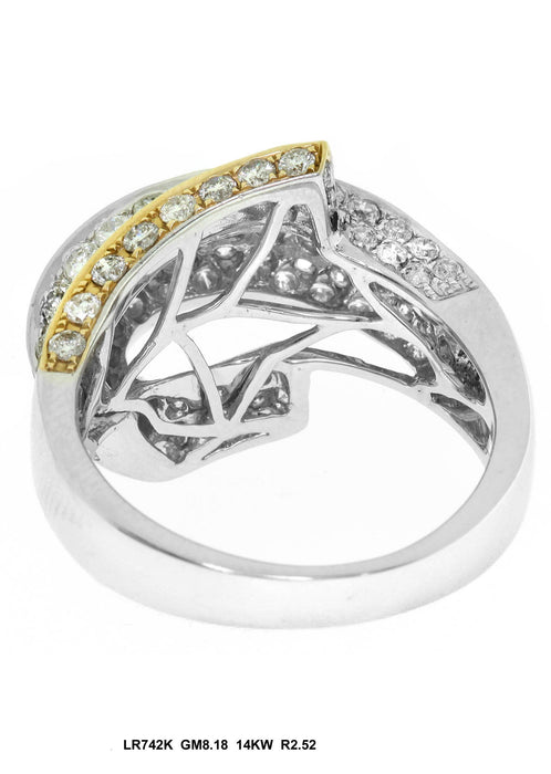 LR742K - 14K White/Yellow Ring