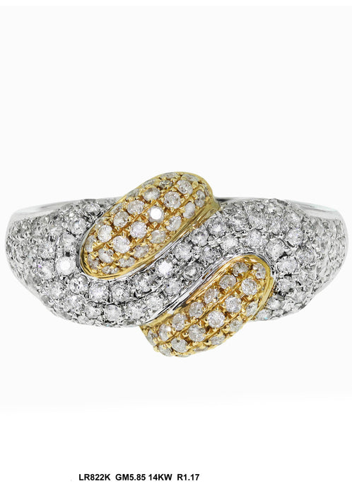 LR822K - 14K White/Yellow Ring