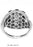 LR971-1 - 14K White Gold Flower Cocktail Ring