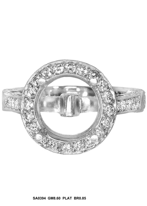 SA0394 - Platinum Diamond Ring