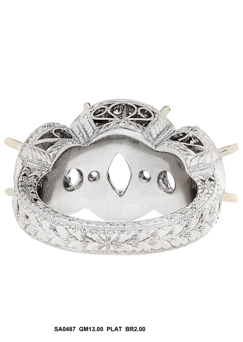 SA0487 - Platinum Diamond Ring