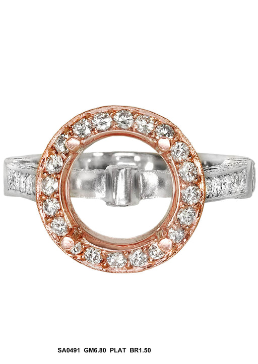 SA0491 - Platinum Diamond Ring