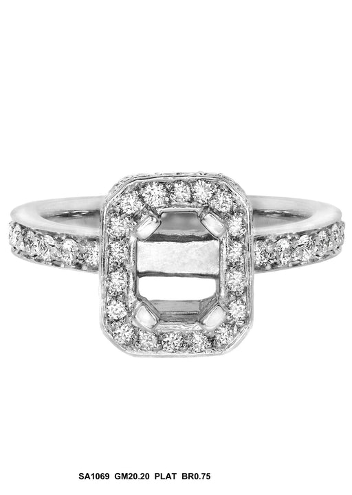 SA1069 - Platinum Diamond Ring