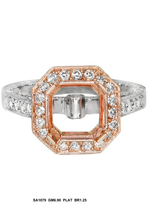 SA1079 - Platinum Diamond Ring