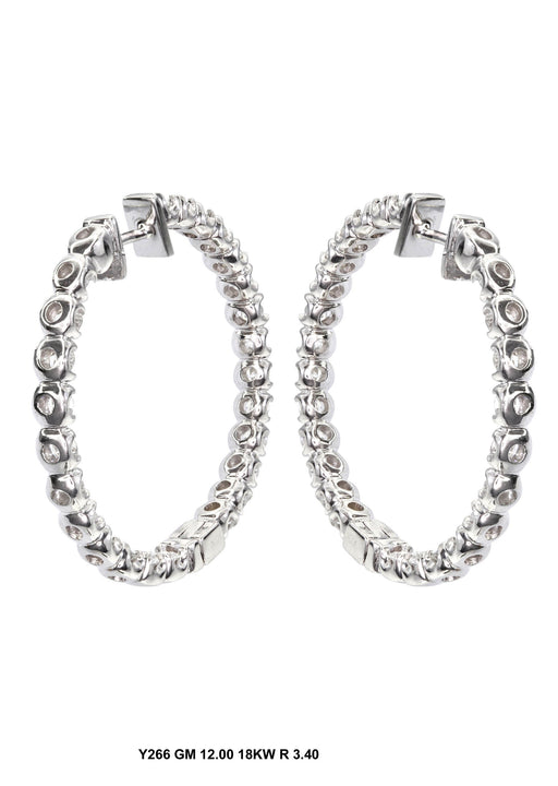 Y266 - 18KW HOOP EARRINGS