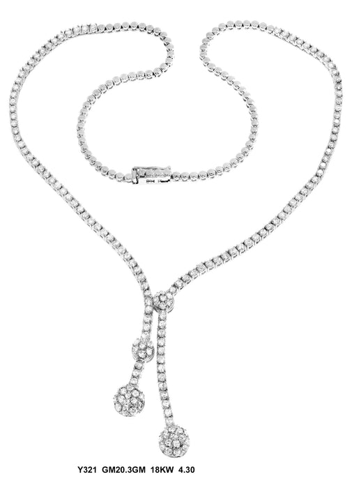 Y321 - 18K White Lady's Necklace