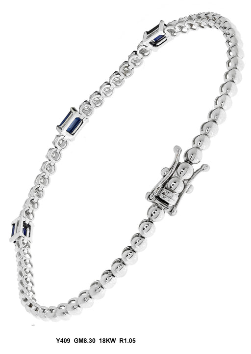 Y409 - 18K White Ladies Bracelet