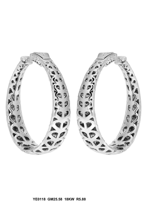 YE0118 - 18K White Gold Earring