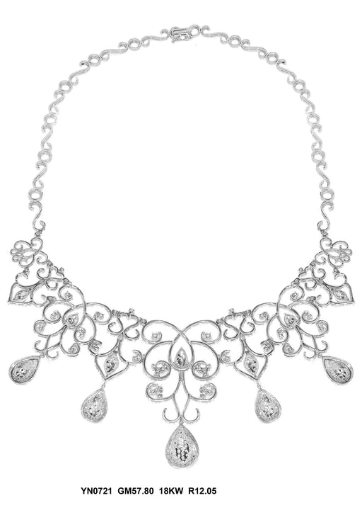 YN0721-1 - 18K White Necklace