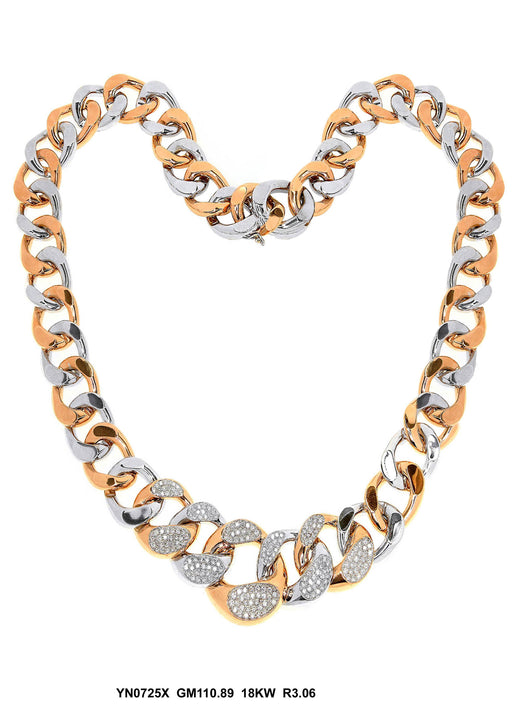 YN0725X - 18KW/P NECKLACE