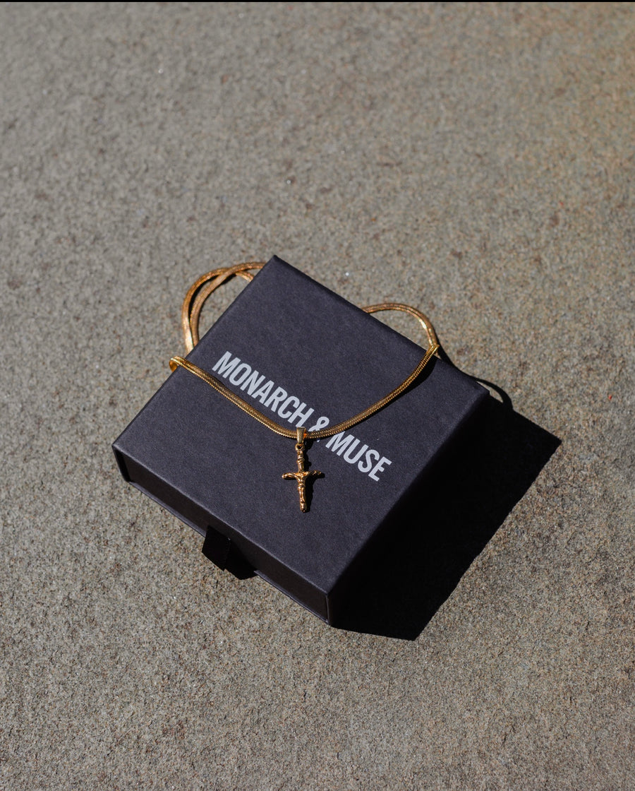 Cross Mini Gold Chain