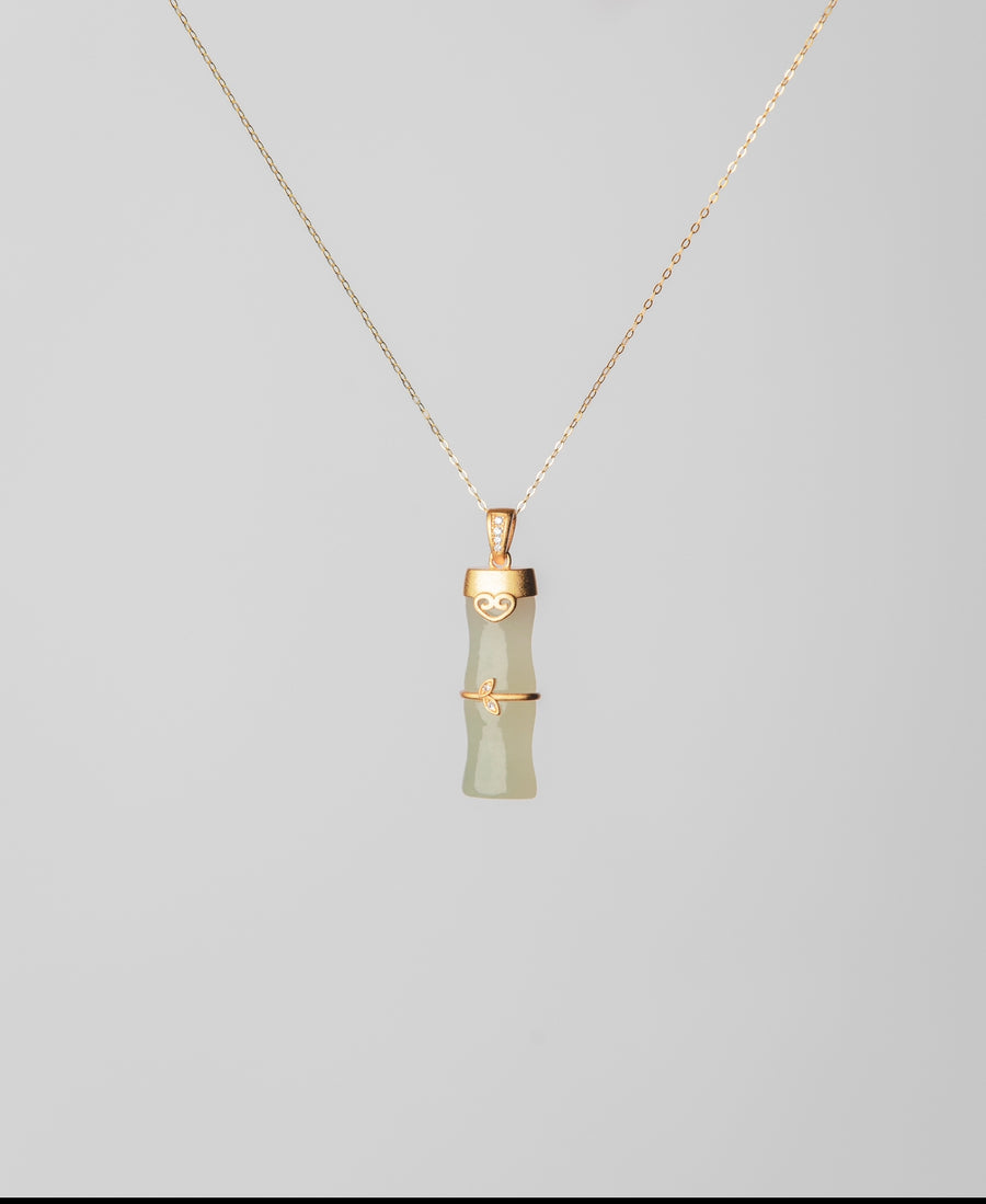 Bamboo Jade Necklace