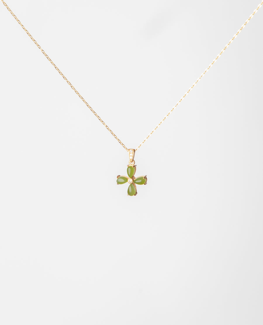 Four Leaf Clover Jade Necklace