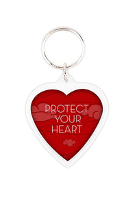 100 Promotional Heart Shaped Acrylic Keychains