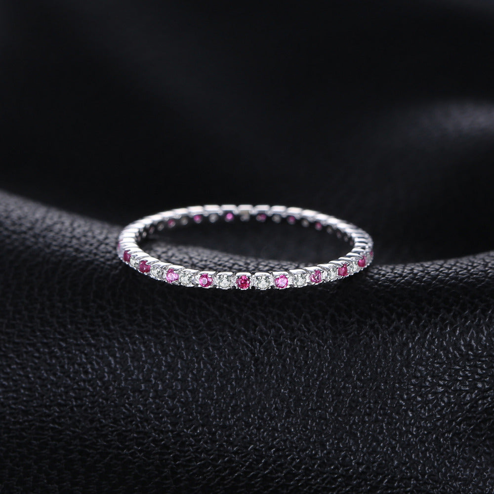 Ring For Women Pure 925 Sterling Silver Fine Jewelry Party Accessories