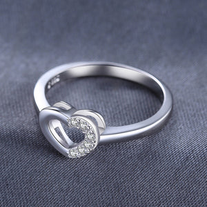 Ring 925 Sterling Silver Anniversary Gift For Women Girl Fine Jewelry