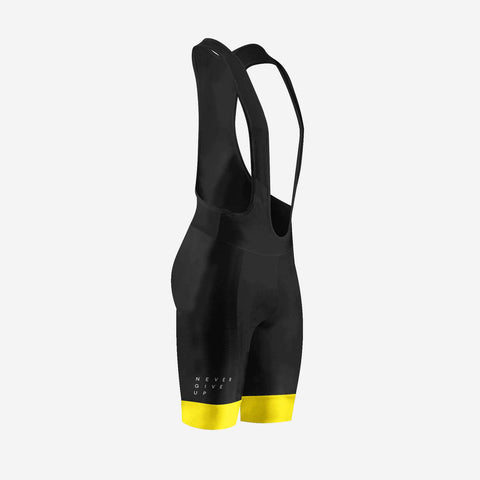 Performance Bib Shorts - Black / Yellow - The Tempests Store