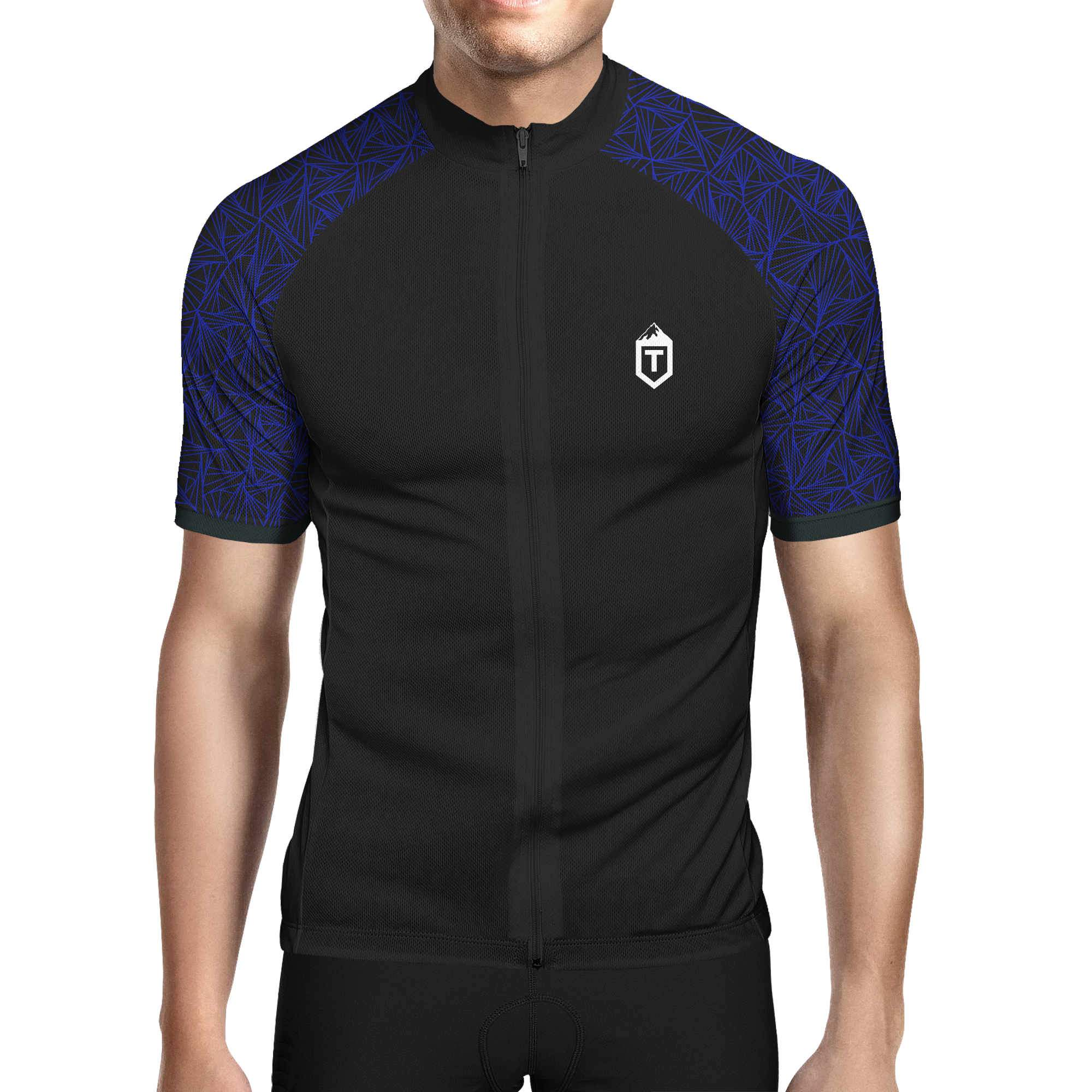 Triangles Jersey - Black / Blue - The Tempests Store